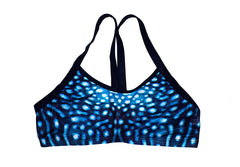 Crop Top - Whale Shark - 16mm straps - Ladies & Girls - Repreve® Fabric - Chlorine Resistant