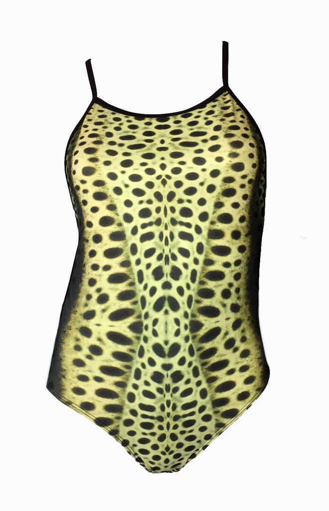 Australian Made - leopard Shark Print - Ladies One piece - Chlorine Resistant