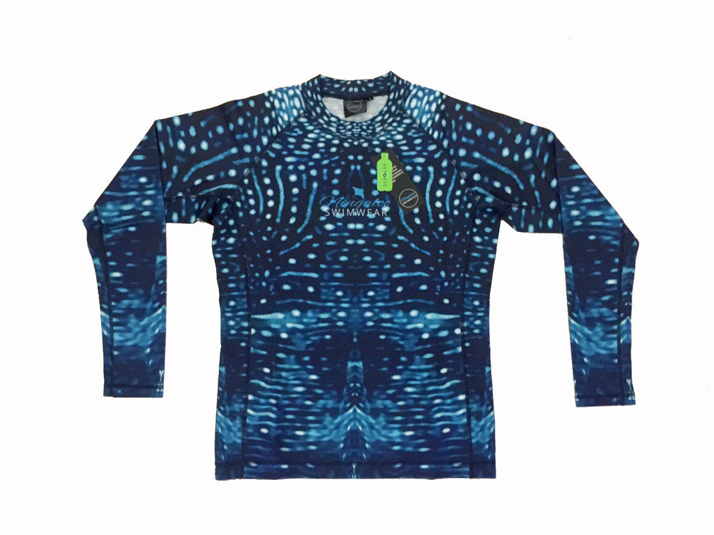 Mens - ladies - Unisex - Whale Shark Full Print - long sleeve - Rash Vest - Repreve® Fabric