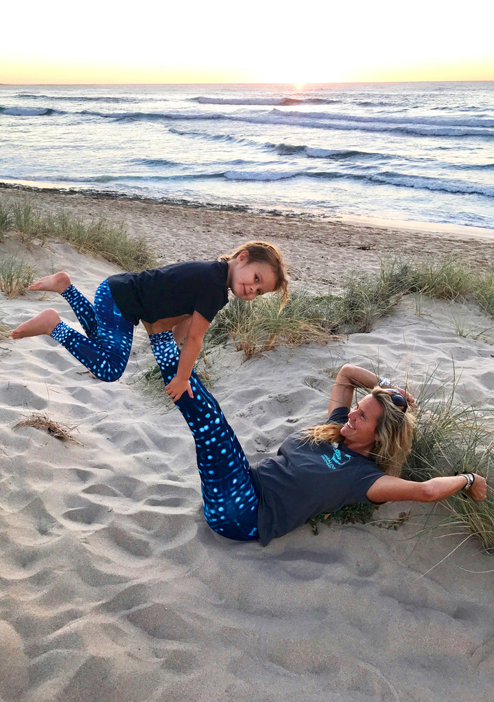 Whale Shark Eco Leggings - Repreve® Fabric