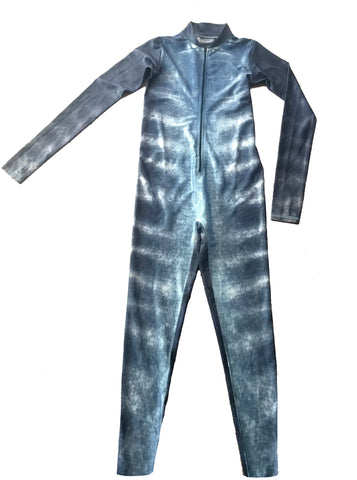 Mens - Tiger Shark Print - Surf & Stinger Suit - Front Zip - Repreve® Fabric