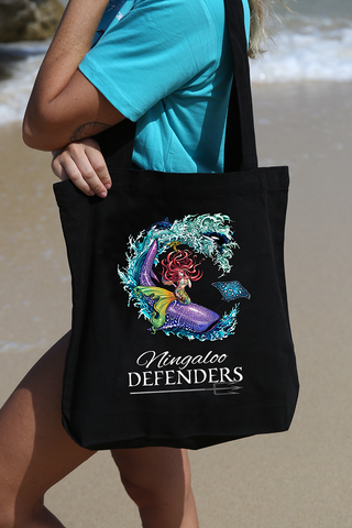 Carry (Tote) Bags - Ningaloo Defenders - Black & Cream