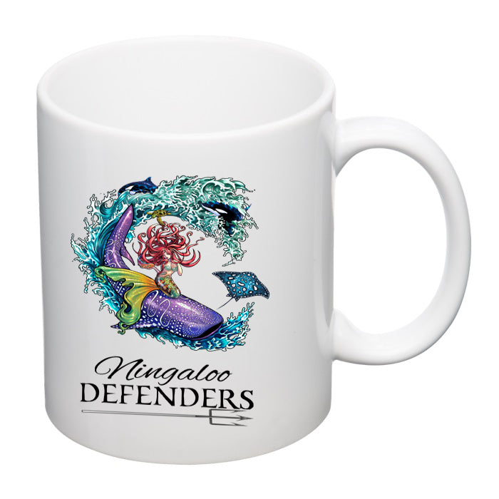 Ceramic Mug - Ningaloo Defenders - White and Black