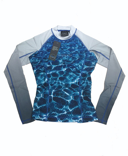 Womens - Turquoise Bay - long sleeve - Rash Vest - Repreve® Fabric