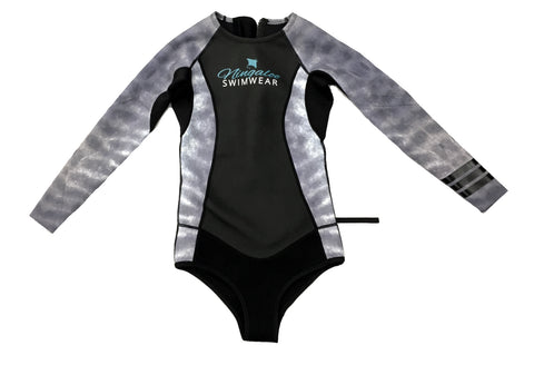 Tiger Shark Print - 2mm - Long Sleeve - Back Zip - Springsuit