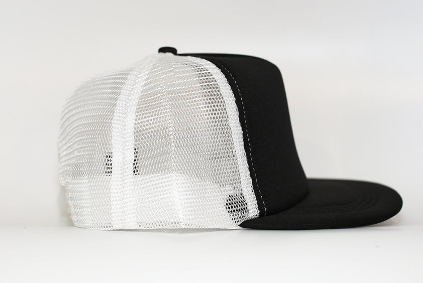 Ningaloo Defenders Black & White Mesh back Trucker Cap