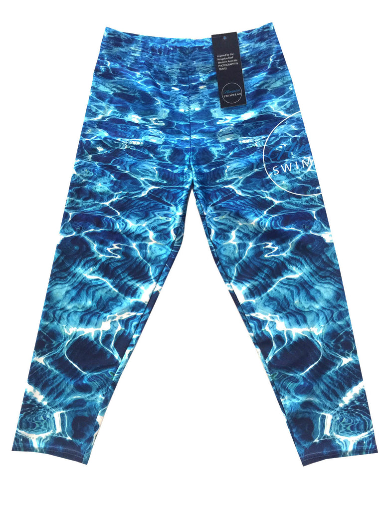 Turquoise Bay - Capri - 3/4 Leggings - Repreve® Fabric