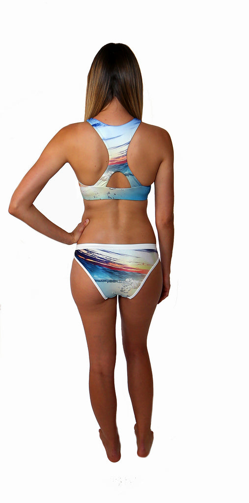Zoey - Sunset Reef - Crop Top - Repreve® Fabric