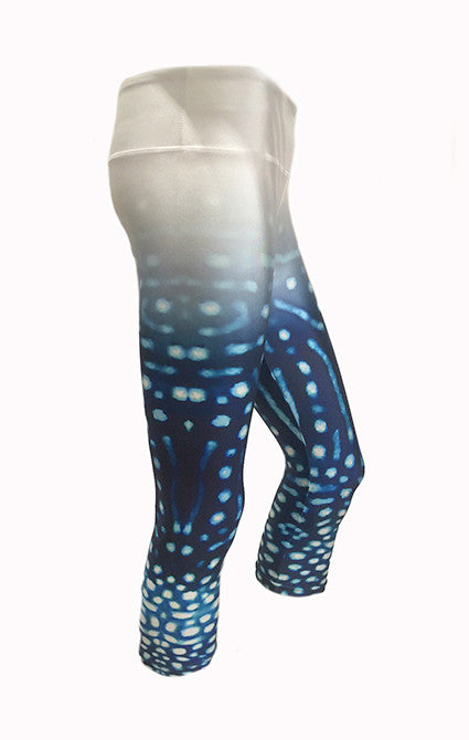 Whale Shark - Capri 3/4 - Eco Fade YOGA Leggings