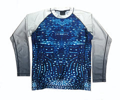 Mens - Whale Shark - long sleeve - Rash Vest - Repreve® Fabric