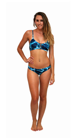 Turquoise Bay - Cross Back Top - Repreve® Fabric