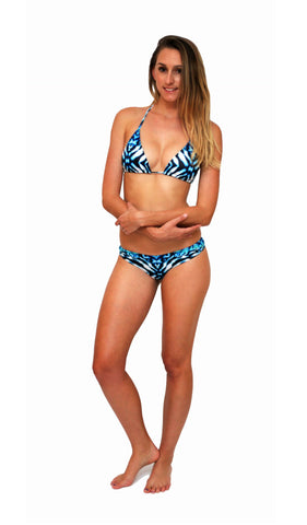Ningaloo Stripe - Tri - Adjustable Bikini Top - Repreve® Fabric
