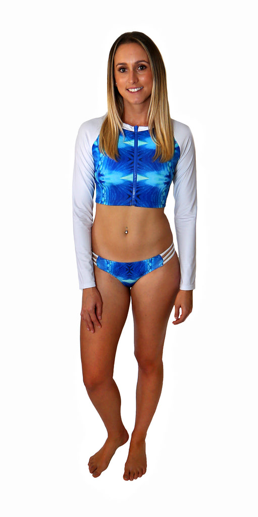 Parrotfish Mandala Cropped Rash Vest - Repreve® Fabric