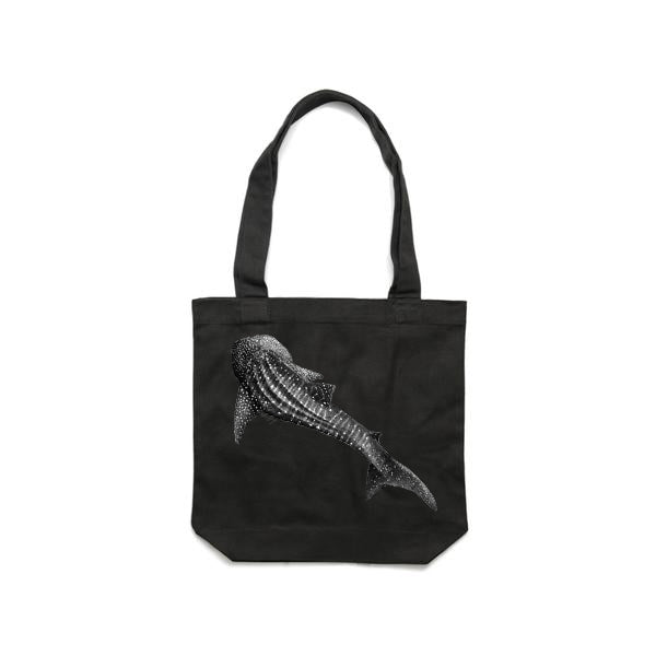 Whale Shark - Cream, Black & Graphite (Tote) Bags