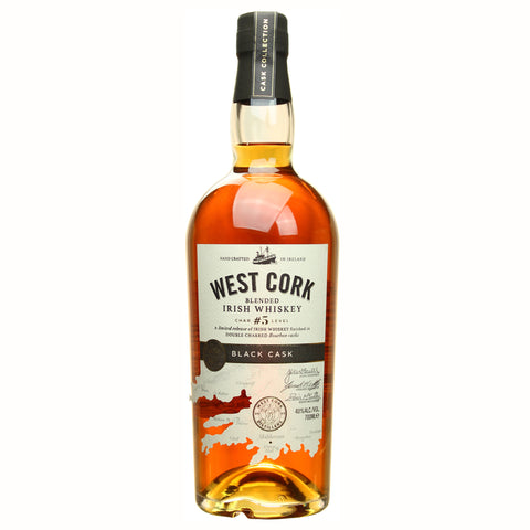 West Cork Blended Irish Whiskey Double Charred Black Cork Finish