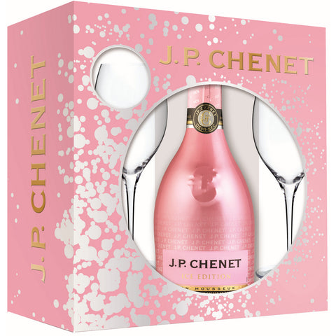 JP Chenet Ice Edition Rose + 2 glasses