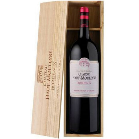 Chateau Huat Mouleyre Magnum in wooden box