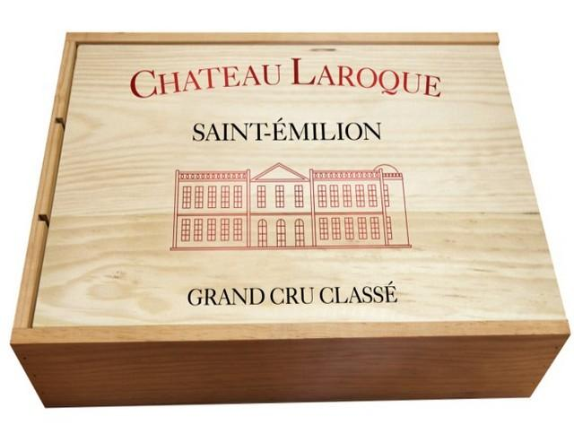Chateau Laroque St.Emilion Gran Cru Classe x 3 in Wooden Box