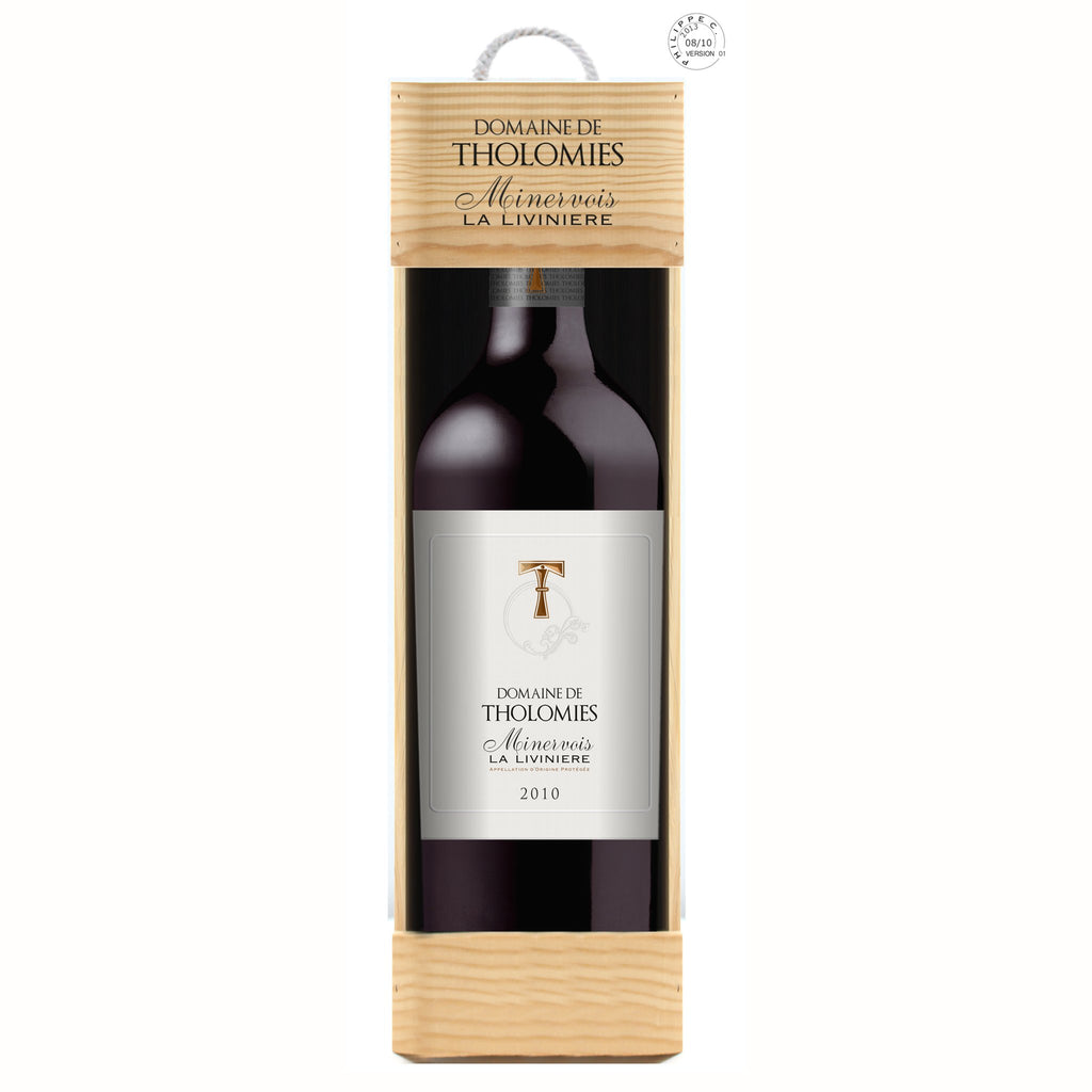 Domaine de Tholomies, Minervois - Magnum bottle in a wooden gift box - WGCF480D