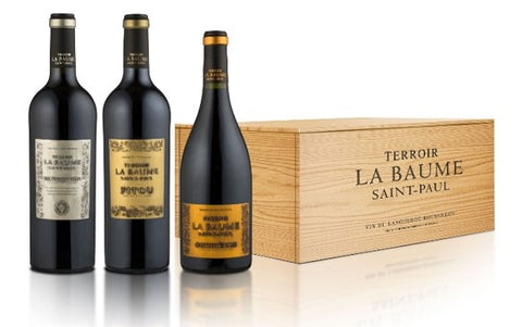 Terroir La Baume St Paul in a Wooden Box of 6 (Minervois - Fitou - Corbieres)