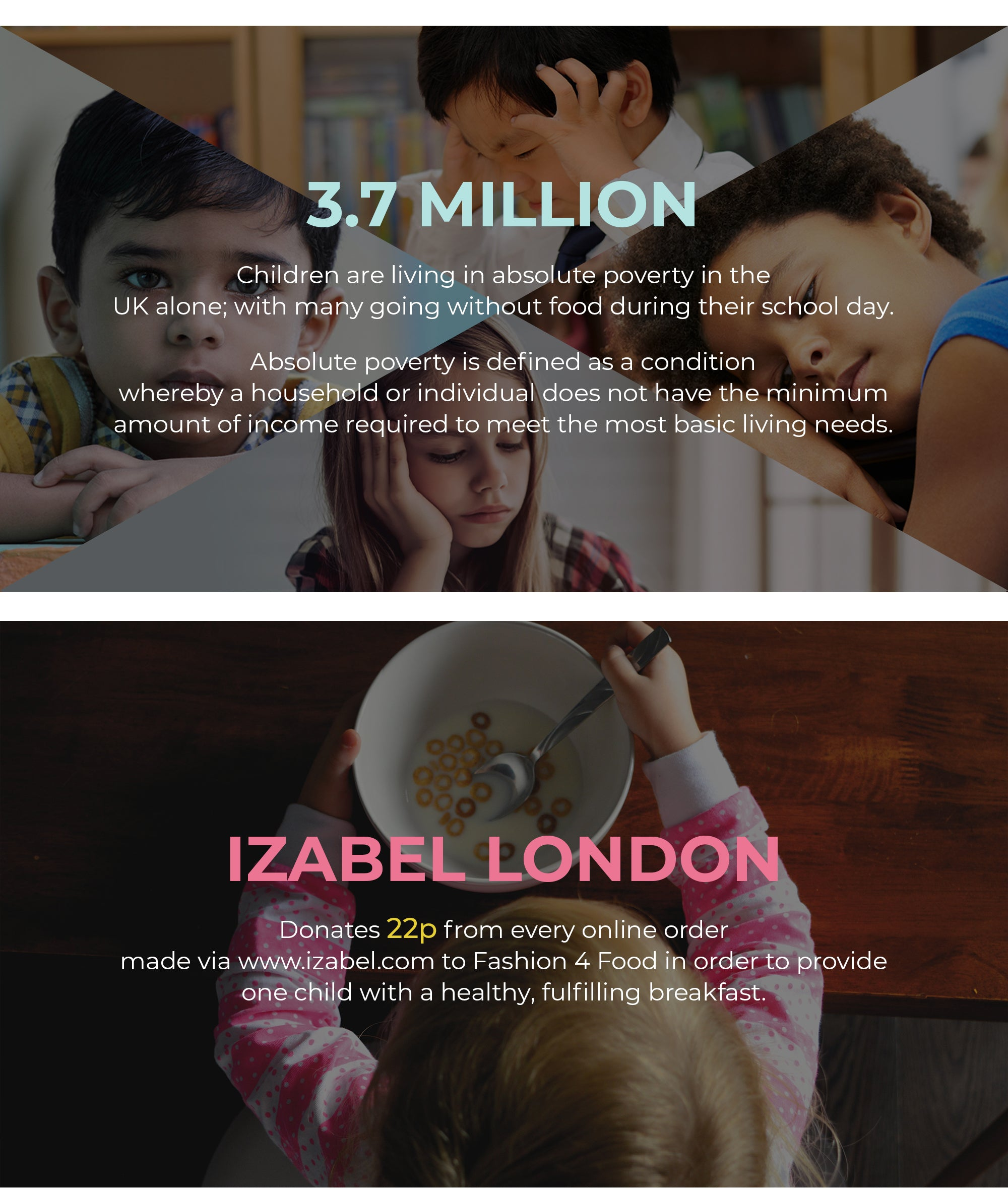 Izabel London & Fashion 4 Food Partnership