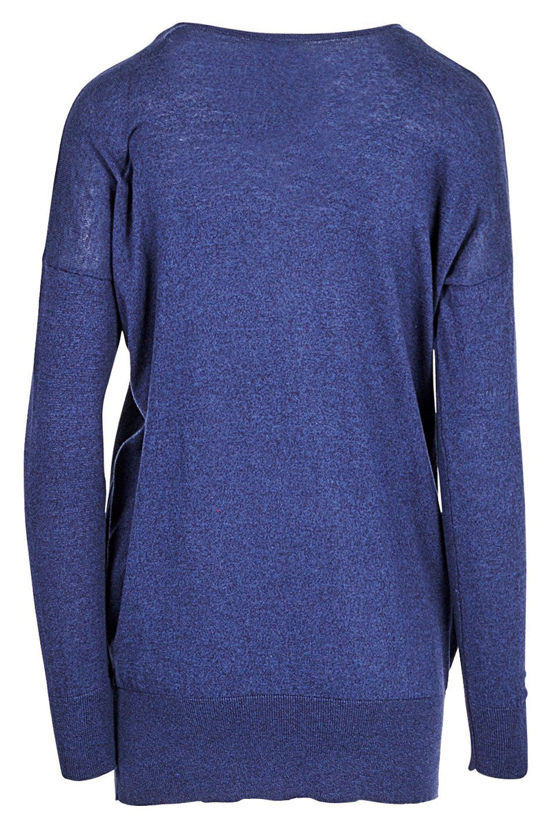 Navy | Side Detail Cuffed Jumper