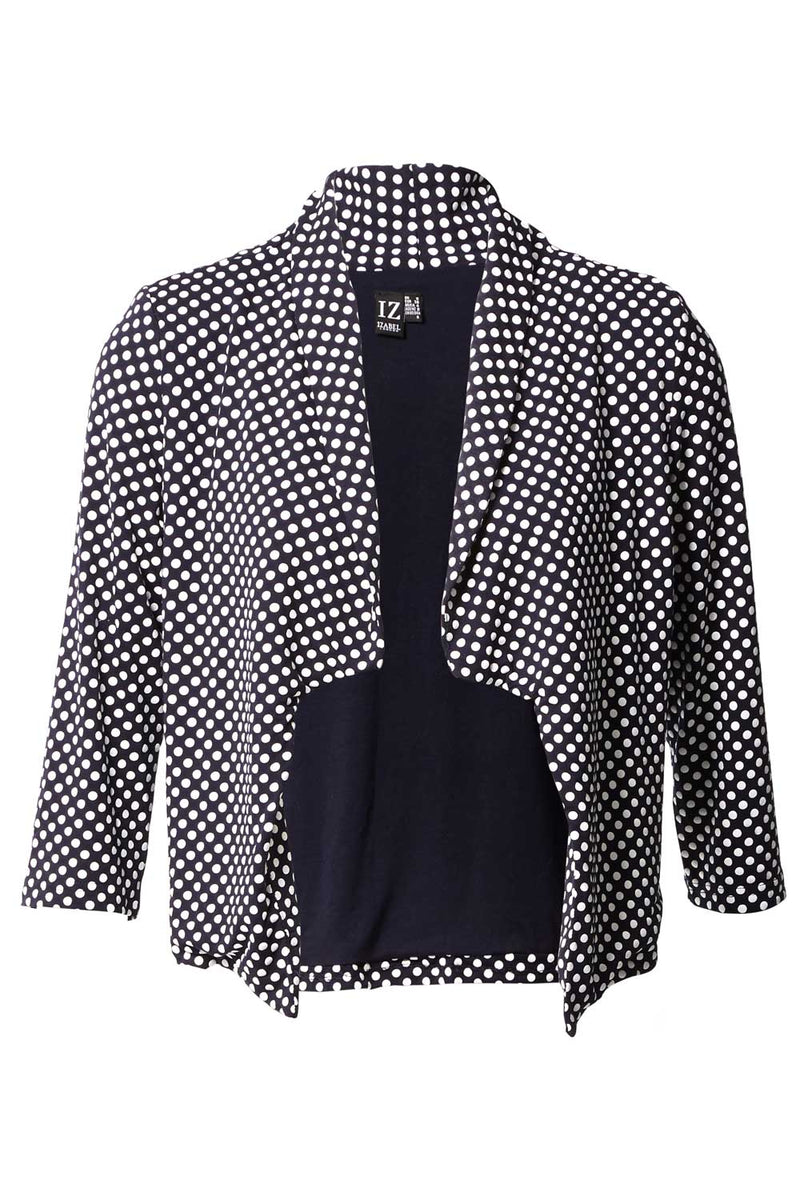Navy | Polka Dot Soft Tailored Jacket