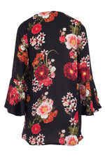 Floral Draped Cardigan - Izabel London