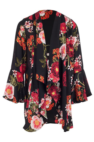 Floral Draped Jacket