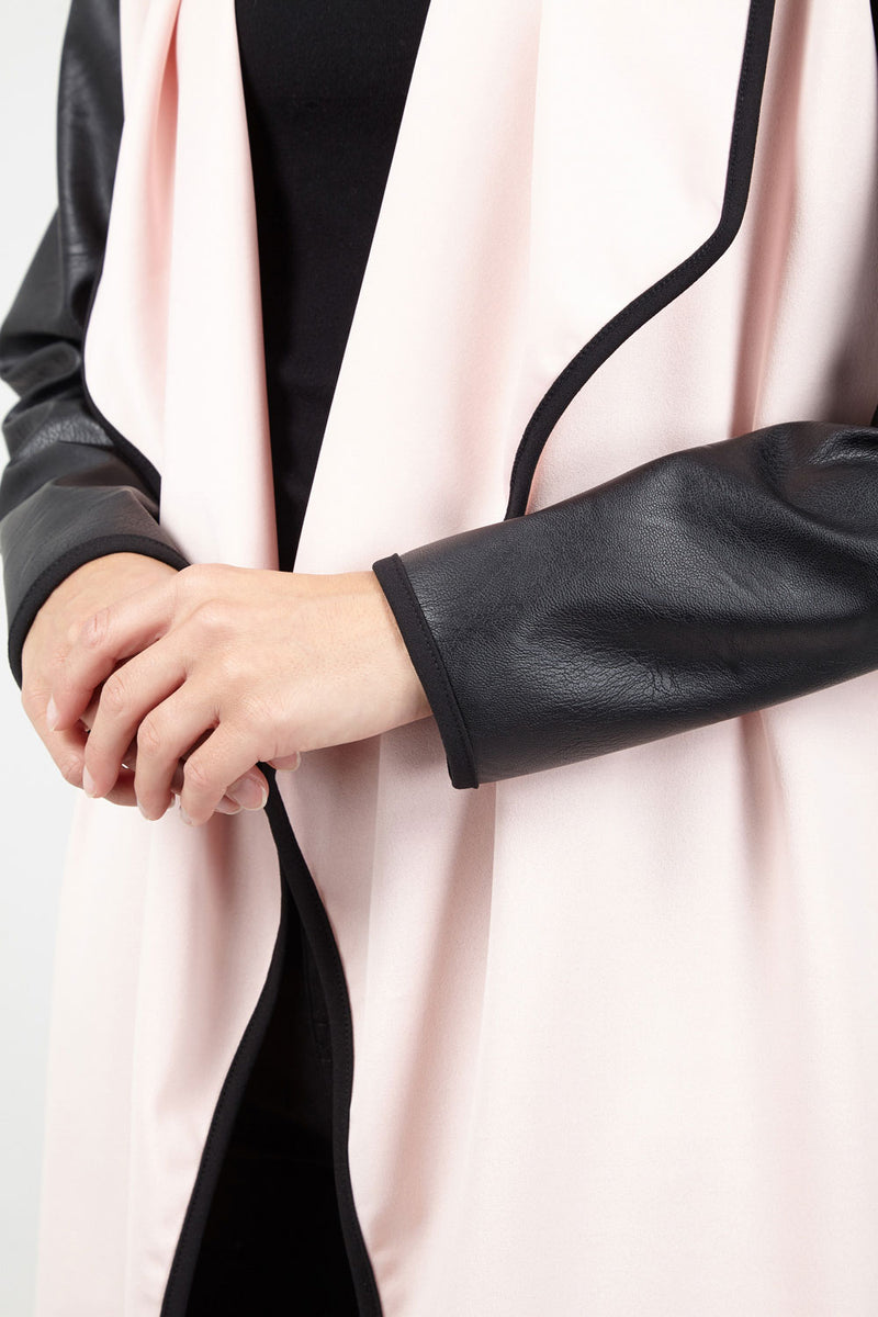 Pink | Waterfall Front Coat
