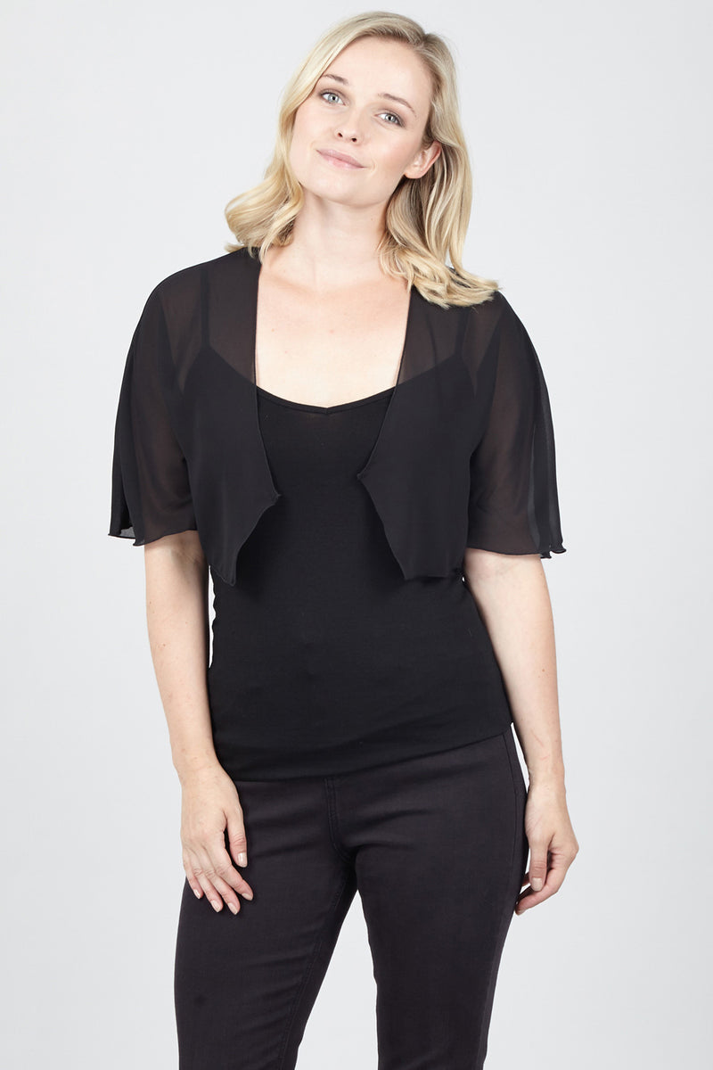 Sheer Cropped Bolero - Izabel London
