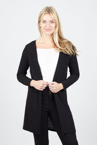 Black | Jersey Snug Cardigan