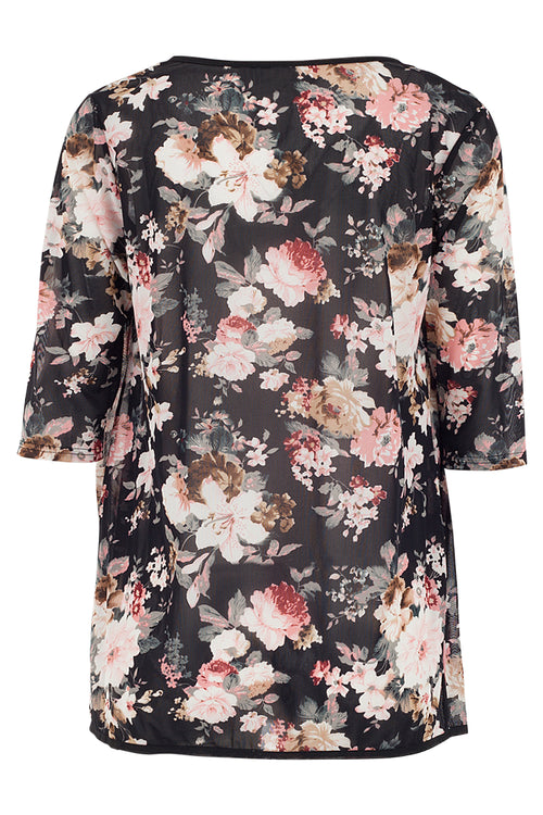 Floral Piped Cardigan - Izabel London