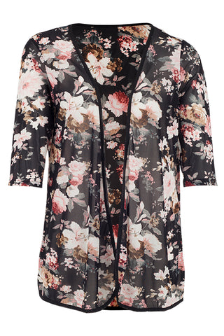 Floral Layer Hem Dress