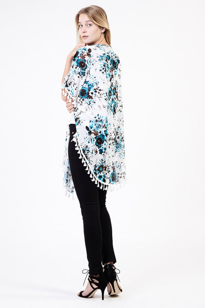 Floral & Tassel Kaftan - Izabel London