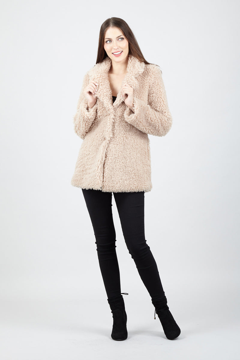 Beige | Faux Fur Teddy Coat