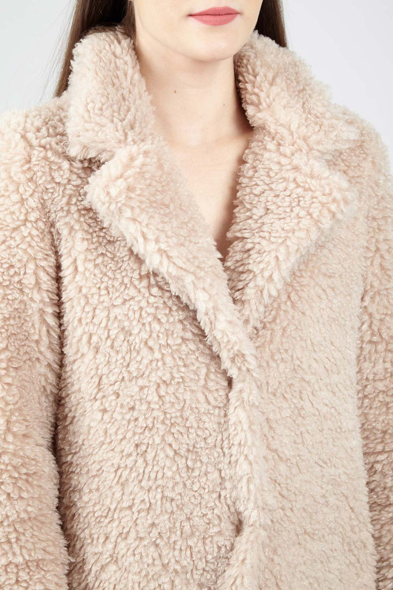 Faux Fur Teddy Coat - Izabel London