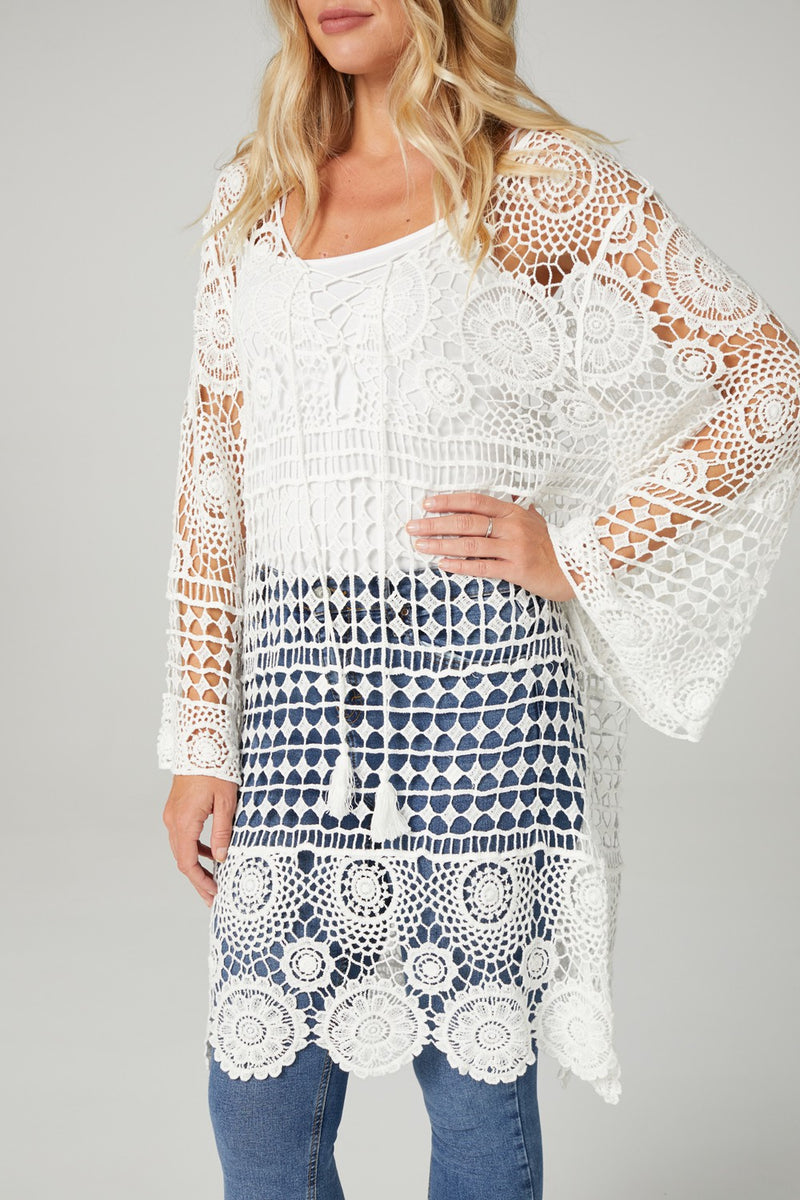Crochet Detail Summer Dress