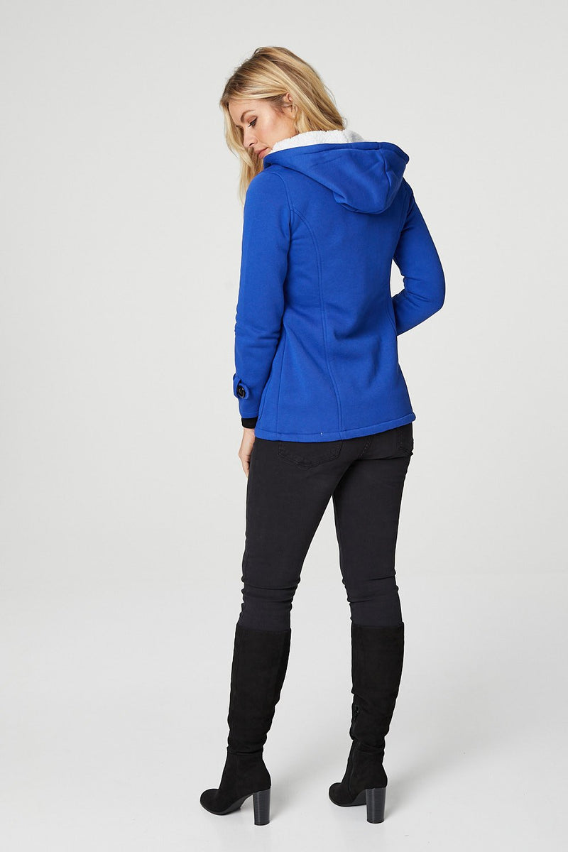 Blue | Toggle Front Duffle Jacket