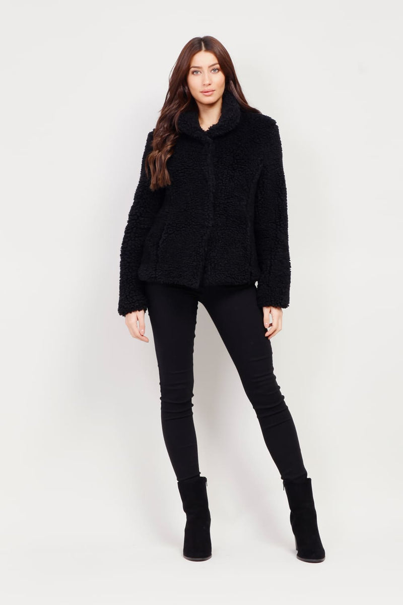 Black | Teddy Fur Coat