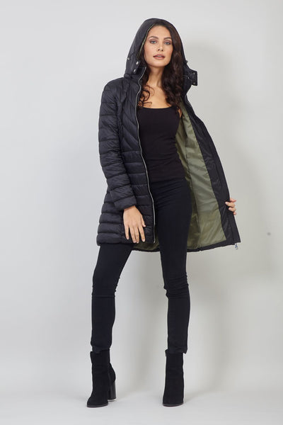Padded Hooded Coat | Khaki