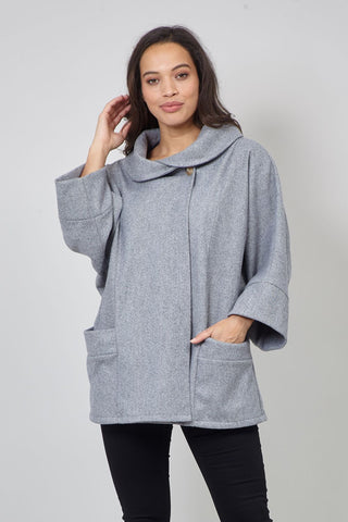 Sleeveless Waterfall Front Cardigan