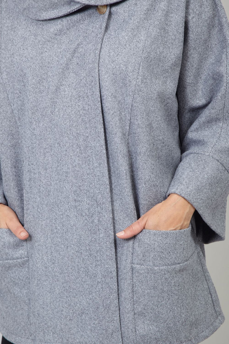 Grey | Oversized Cape Coat