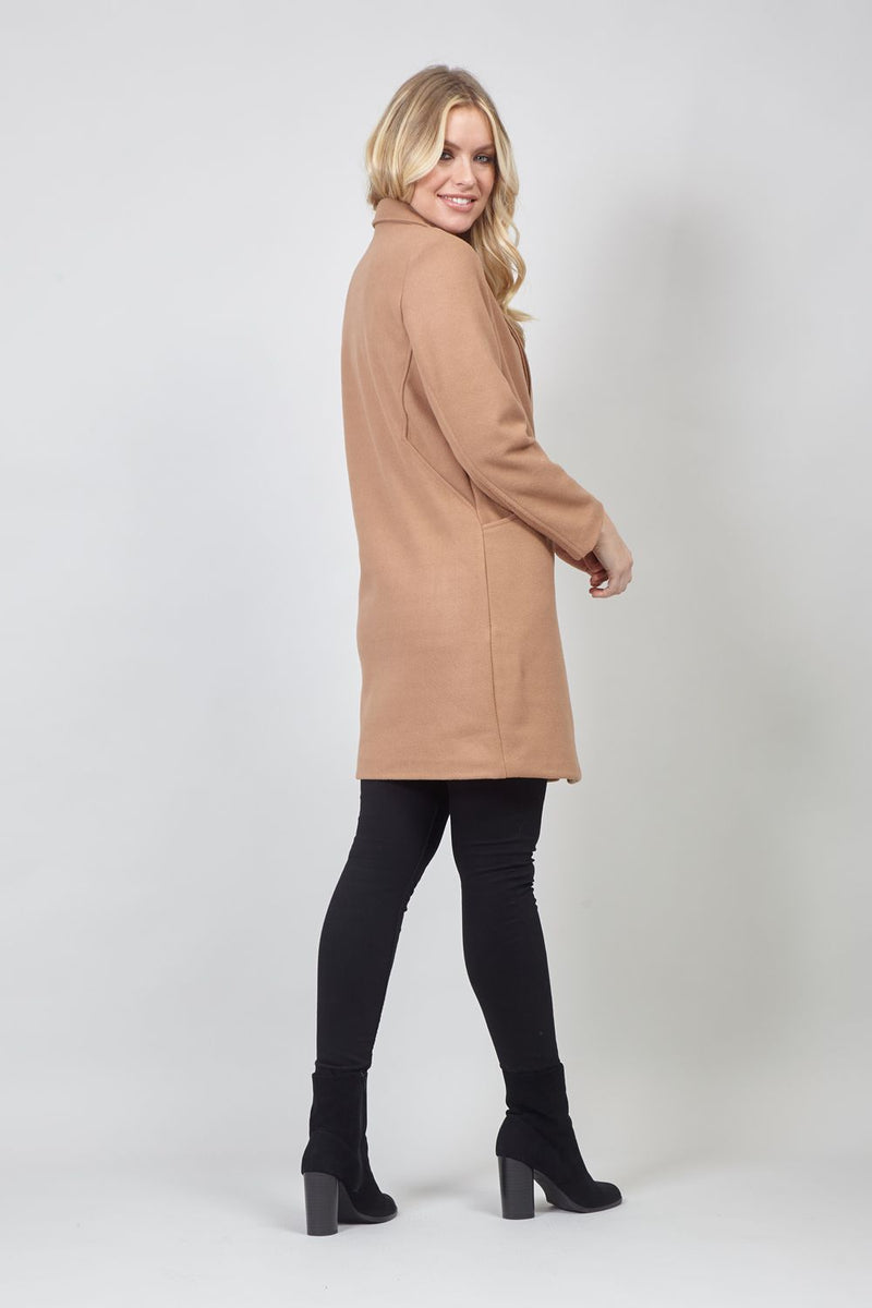 Brown | Oversized Boyfriend Coat