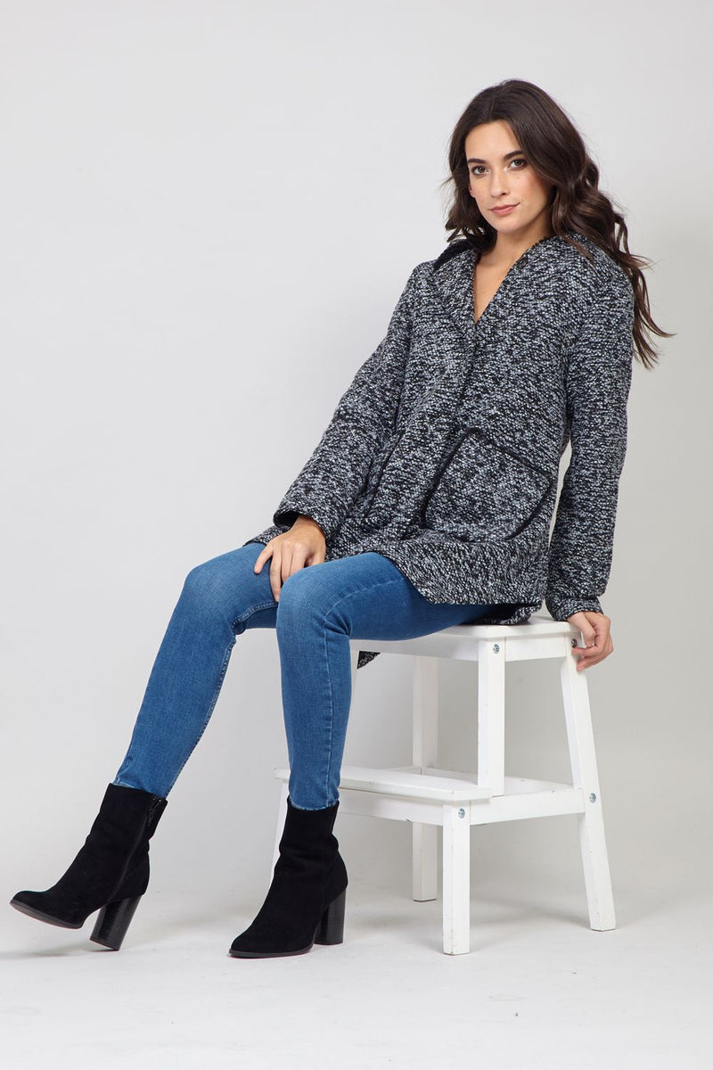 Grey | Slouchy Knitted Jacket