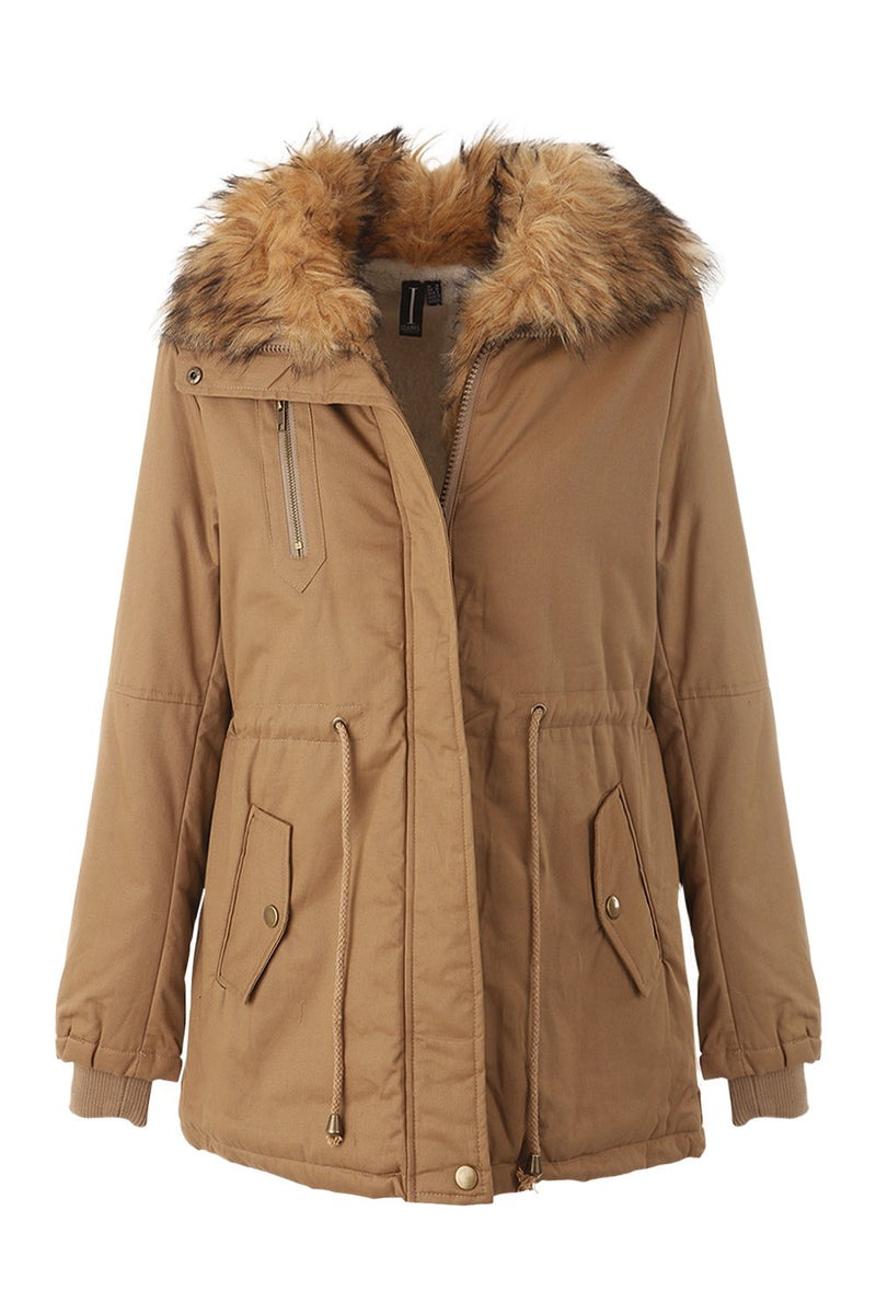 Wax Parka Coat - Izabel London