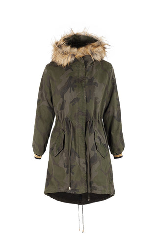 Fur Trim Hood Parka