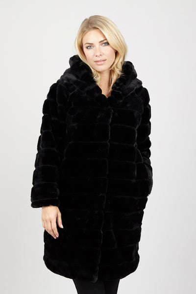 Faux Fur Longline Coat - Izabel London