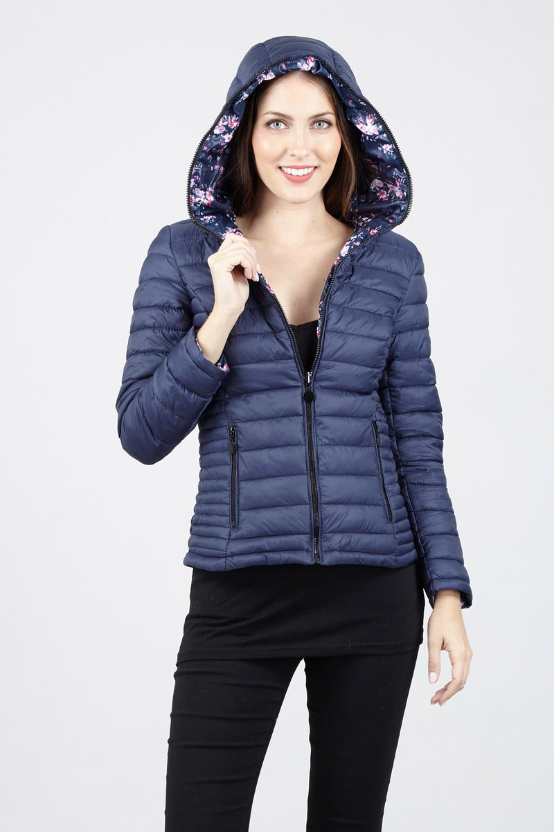 Navy | Short Padded Jacket