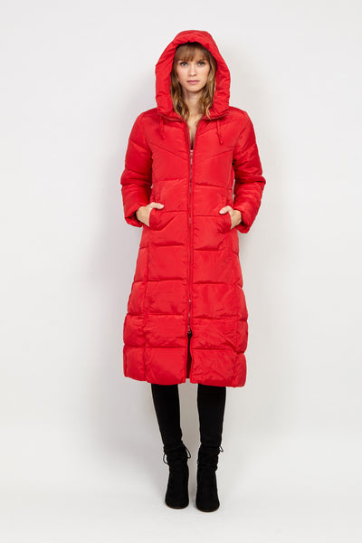 Padded Longline Puffer Coat - Izabel London